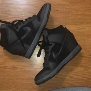 Preowned Nike dunk wedges